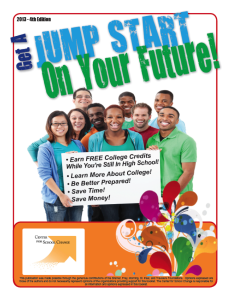 4th Edition Jump Start Dual Credit Booklet