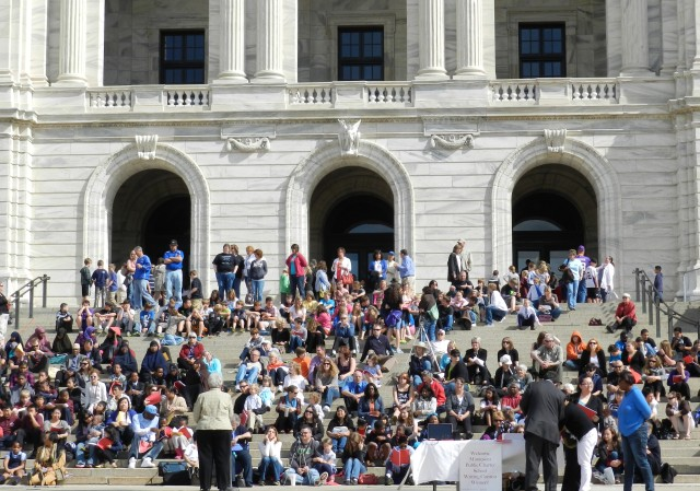 Sen. Olson & audience at 2012 Capitol event