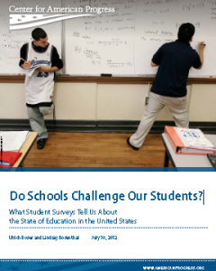 CAP report - Do Schools Challenge Our Students?