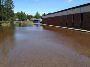 Moose Lake High School - flooding