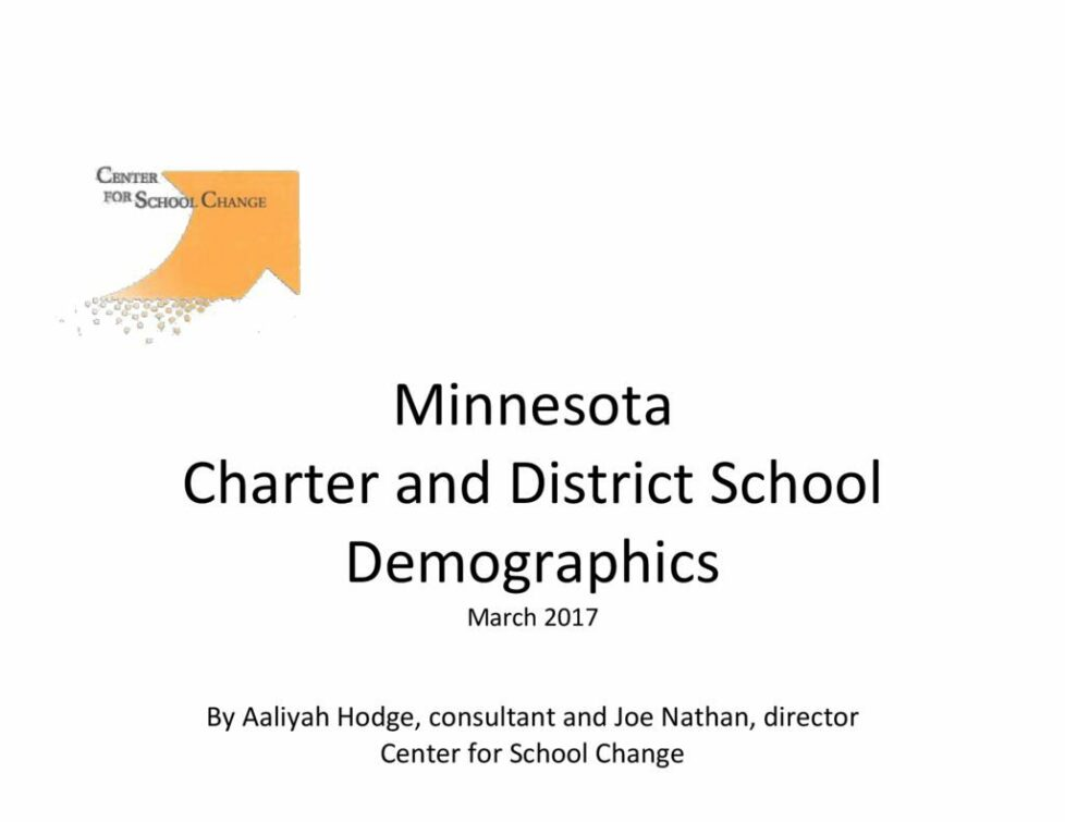 thumbnail of 2002-17 Mn Charter and District School Demographics