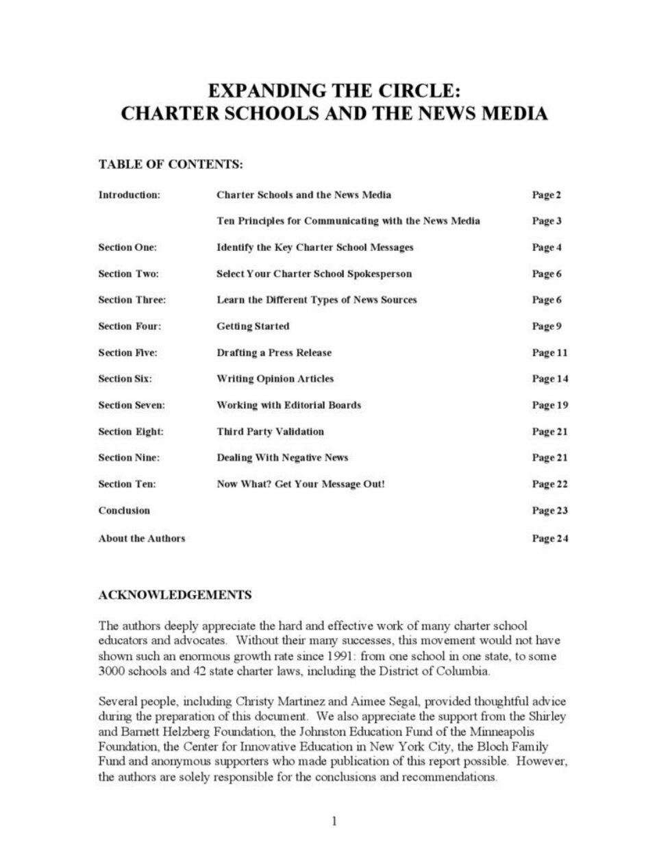 thumbnail of EXPANDING THE CIRCLE: CHARTER SCHOOLS AND THE NEWS MEDIA