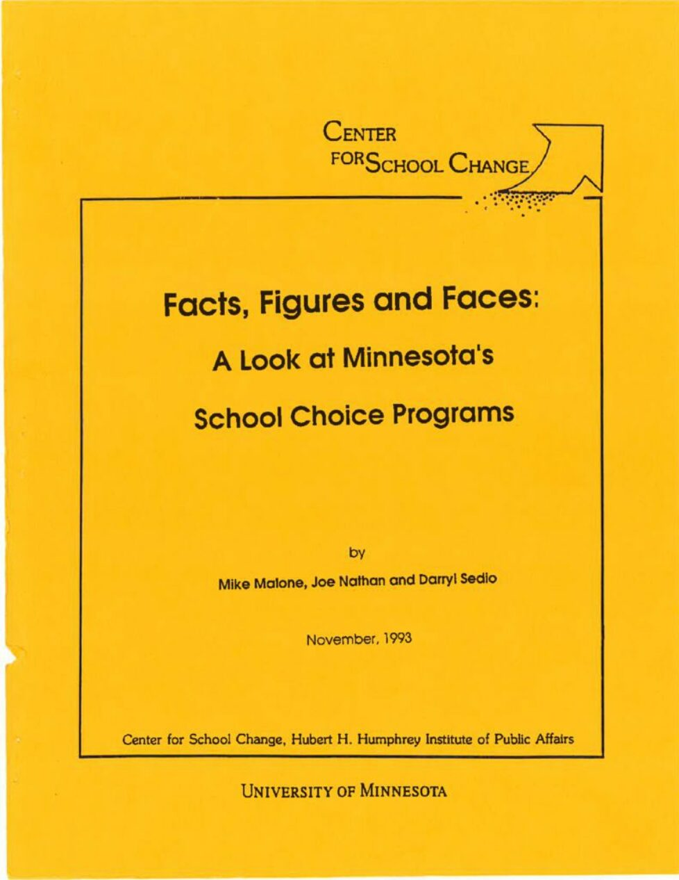 thumbnail of Facts, Figures and Faces-A Look at Minnesota's School Choice Programs