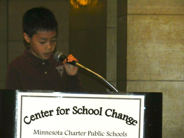 Evan Nguyen of Eagle Ridge Academy 3rd grade.