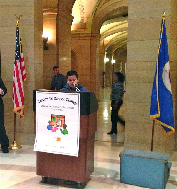 Aviael Sanchez Chavira, 5th grader from Partnership Academy, shares his essay.