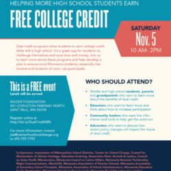 Nov 5 conference: Helping More High School Students Earn Free College Credit