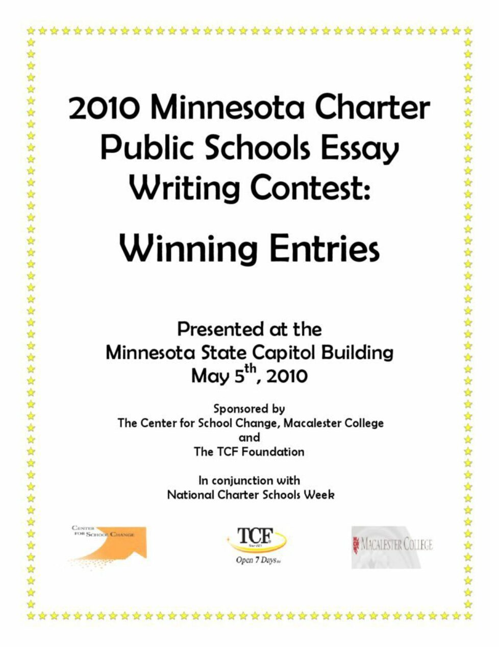 thumbnail of 2010 Winning Essays Booklet