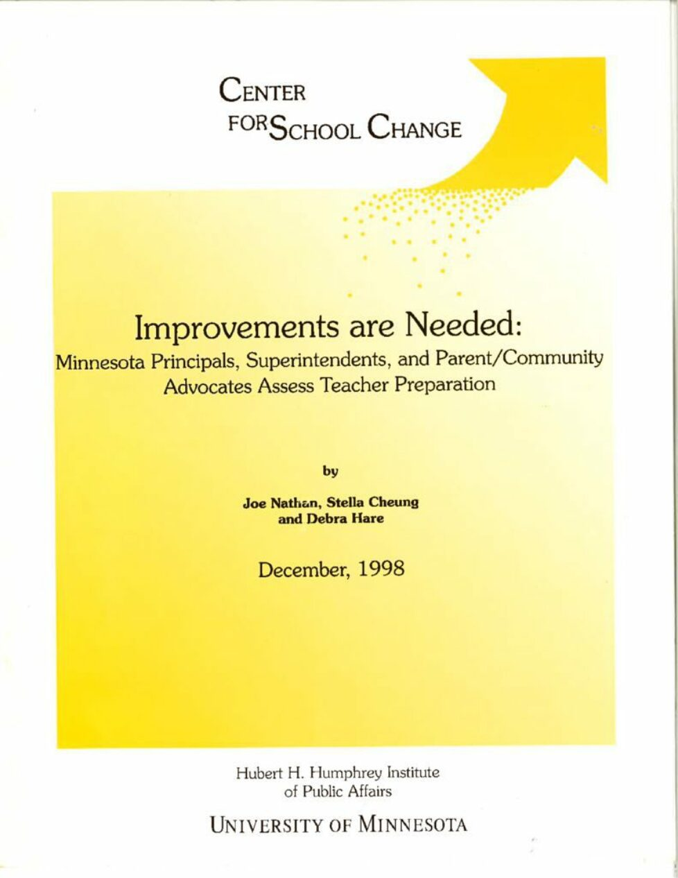 thumbnail of Improvements are Needed-Minnesota Principals, Superintendents, and Parent_Community Advocates Assess Teacher Preparation