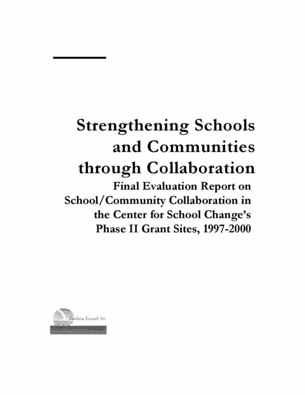 thumbnail of Strengthening Schools and Communities through Collaboration