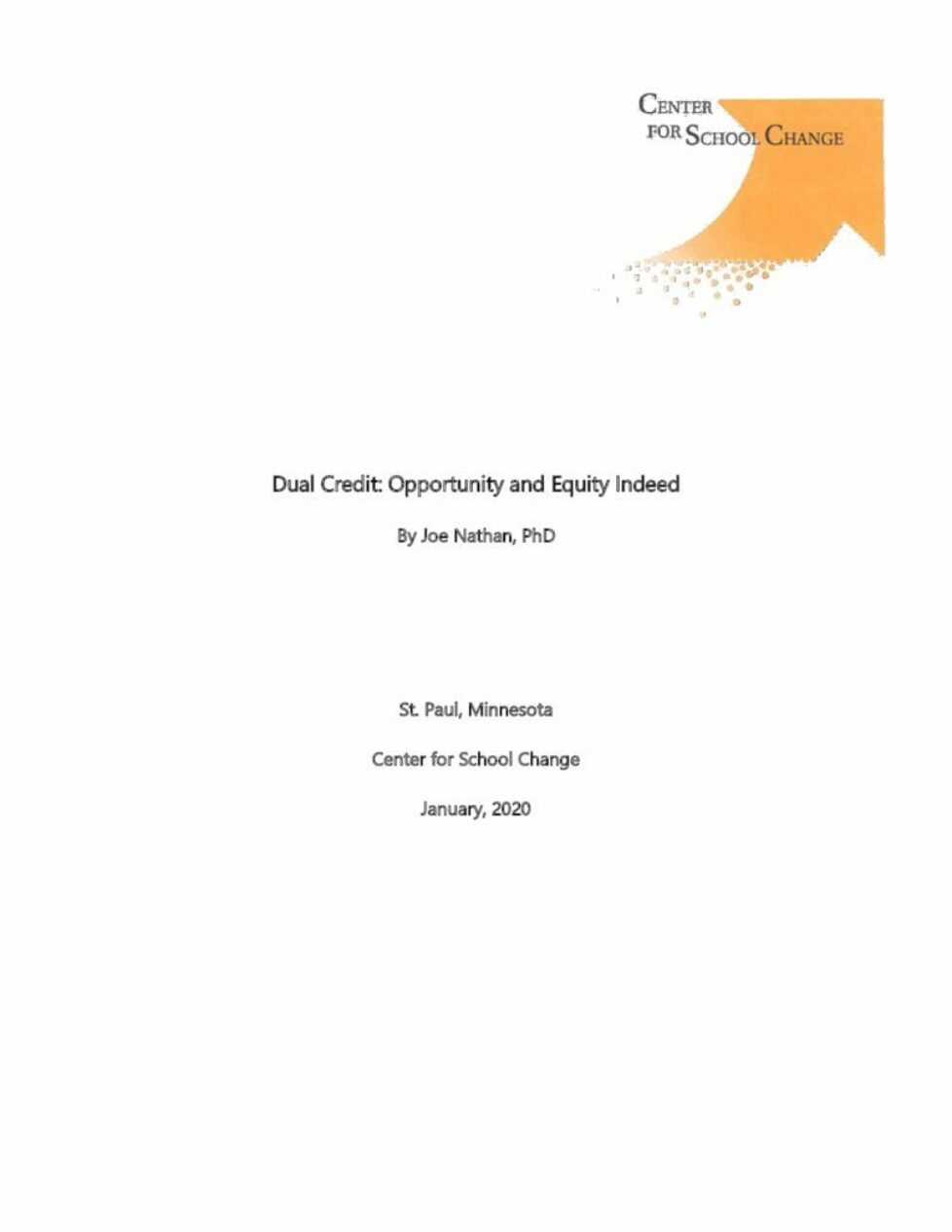 thumbnail of Dual Credit Opportunity & Equity Indeed