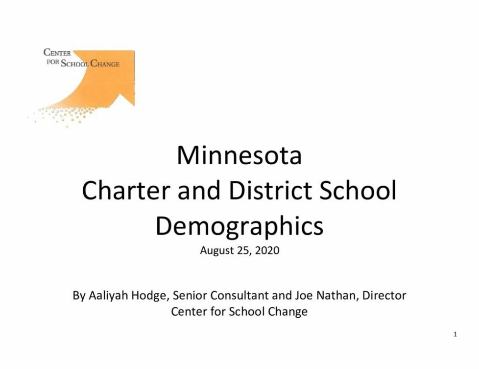 thumbnail of Charter and District School Demographics 8.25.20